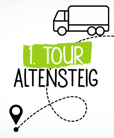 Liefertouren Hundefutter Stuttgart und Altensteig